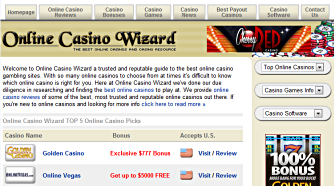Online Casino Wizard reviews top rated online casinos